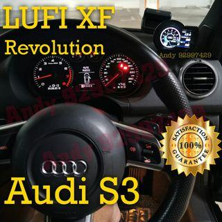 Audi S3 Lufi XF Revolution OBD OBD2 Gauge Meter display #lufi #defi #magician #ultragauge #scangauge