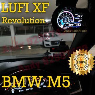 BMW M5 Lufi XF Revolution OBD OBD2 Gauge Meter display #lufi #defi #magician #ultragauge #scangauge