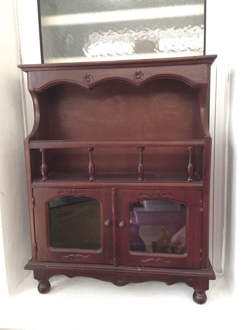 Antique Cabinet w Brass Handles
