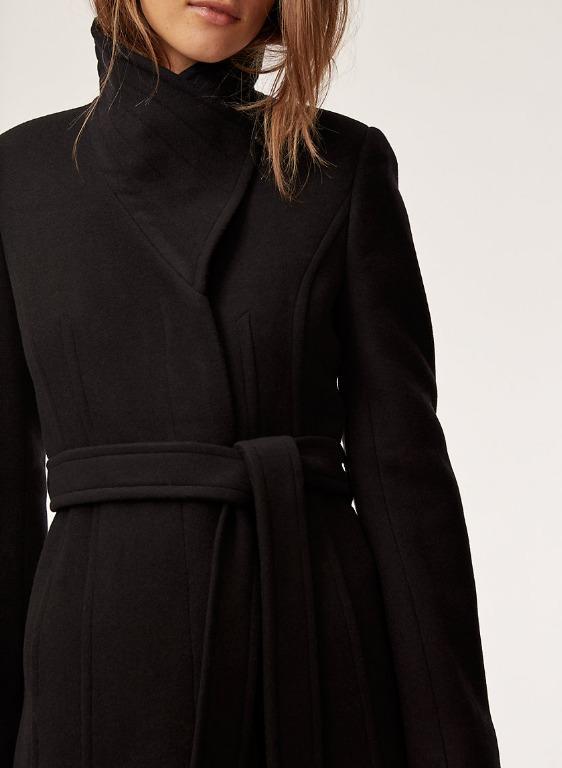 Aritzia Babaton Connor Black Wool coat