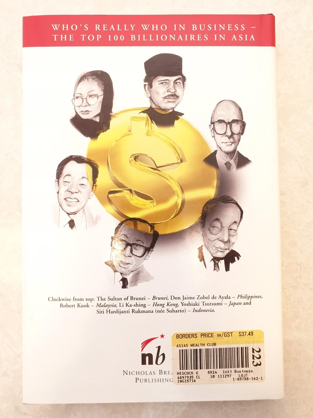 ASIA'S WEALTH CLUB, Who's Really Who in Asia, The Top 100 Billionaires in Asia, Hardcopy