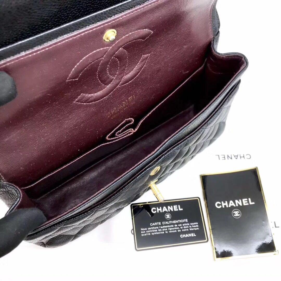 Authentic Pre-loved Chanel Medium Caviar Leather GHW Double Flap