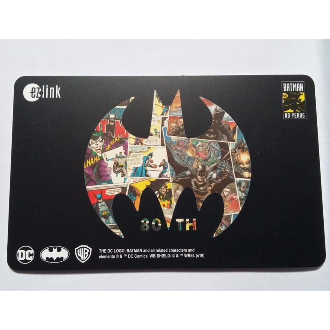 Batman 80th Anniversary ezlink card