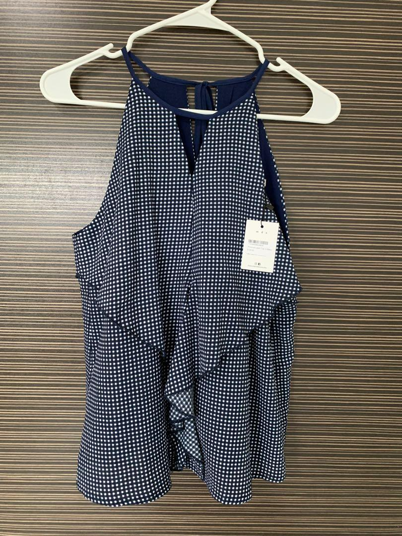 BNWT MDS flounce layer top