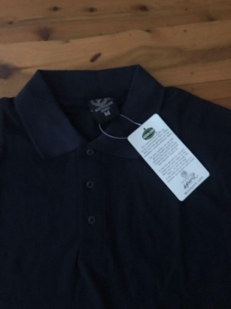 Brand new genuine koodri yarn men's navy polo top size M