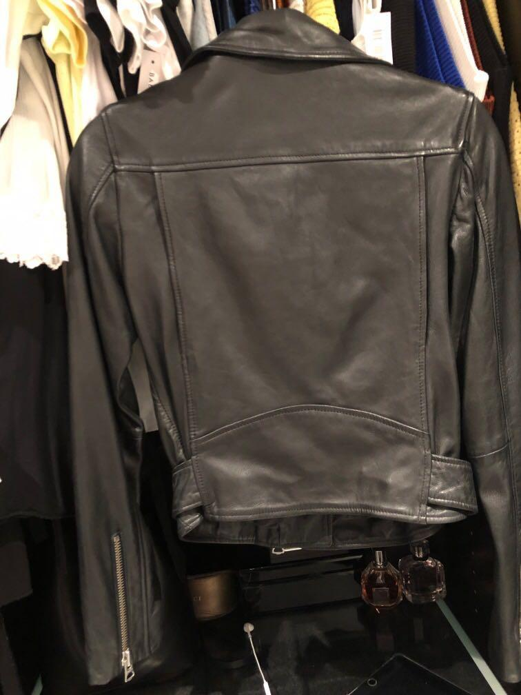 BRAND NEW Wilfred free Lennon Moto - biker leather jacket Black XSmall