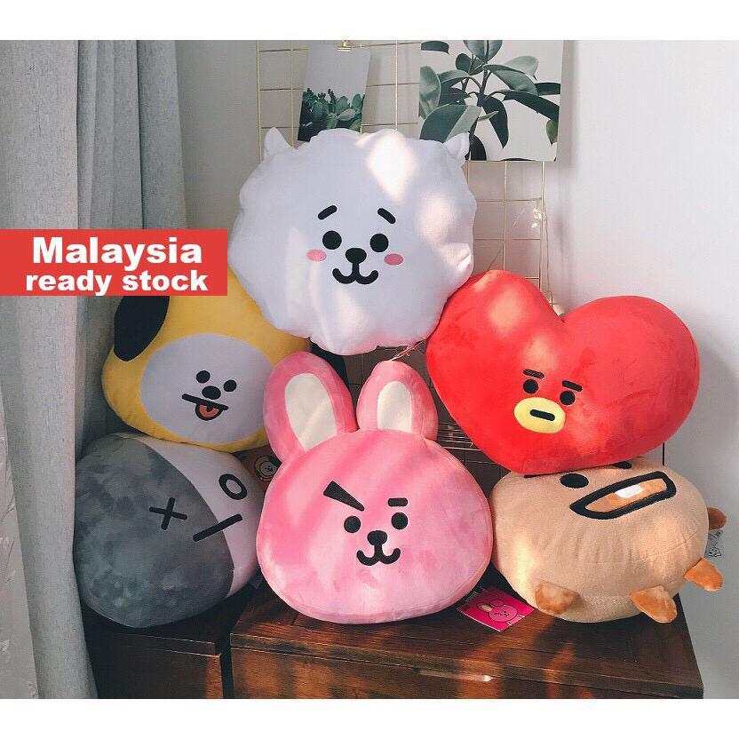 BTS BT21 Face cushion pillow Stuffed toy Cooky Tata Chimmy RJ Shooky