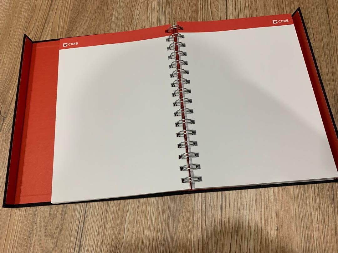 CIMB notebook / planner