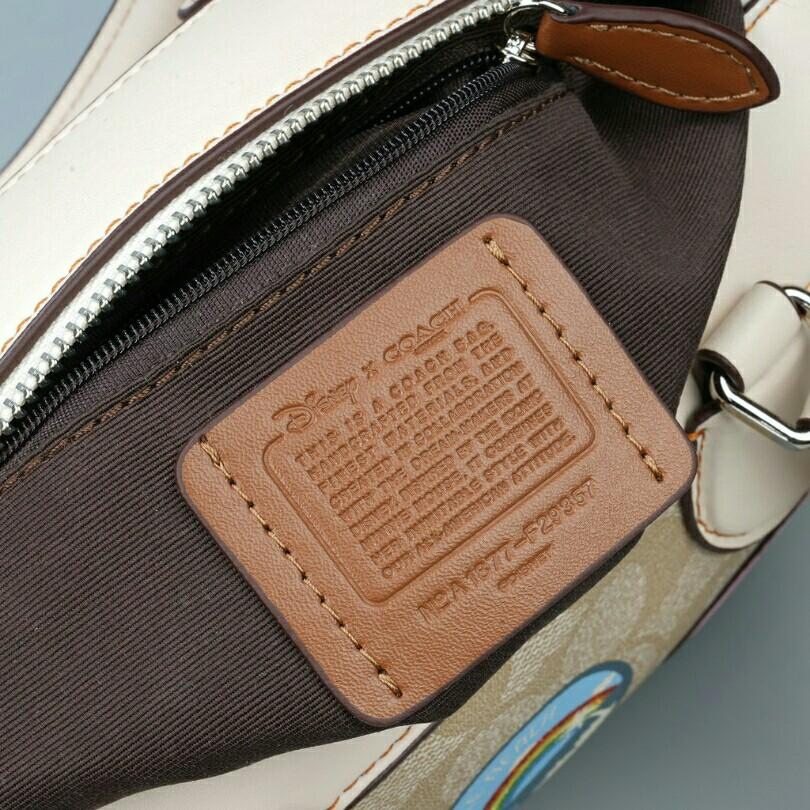 Coach Mini Bennet Satchel In Signature Canvas with Minnie Mouse Patches
