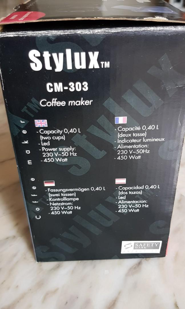 Coffee Maker Stylux CM - 303 ( RESERVED)