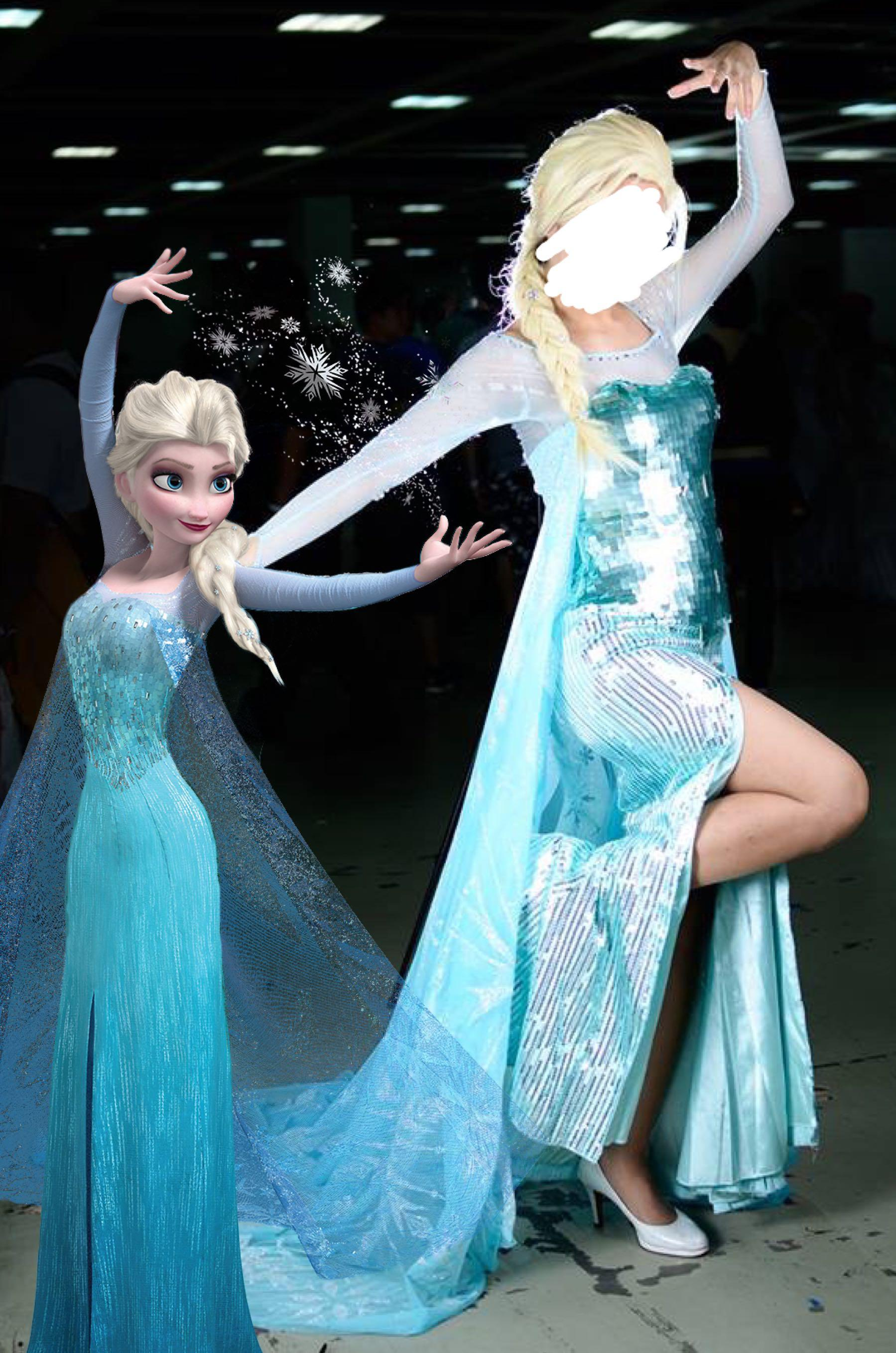 DISNEY Frozen Queen Elsa Cosplay Costume Rental Premium - Halloween / Party / Event / Annual Dinner / Birthday (Movie Character)