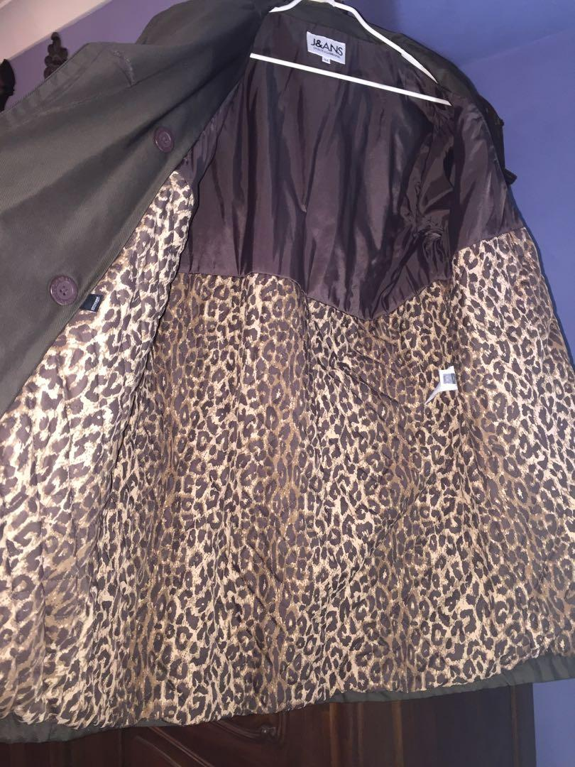 Dolce Gabbana winter coat jacket leopard Authentic made in Italy