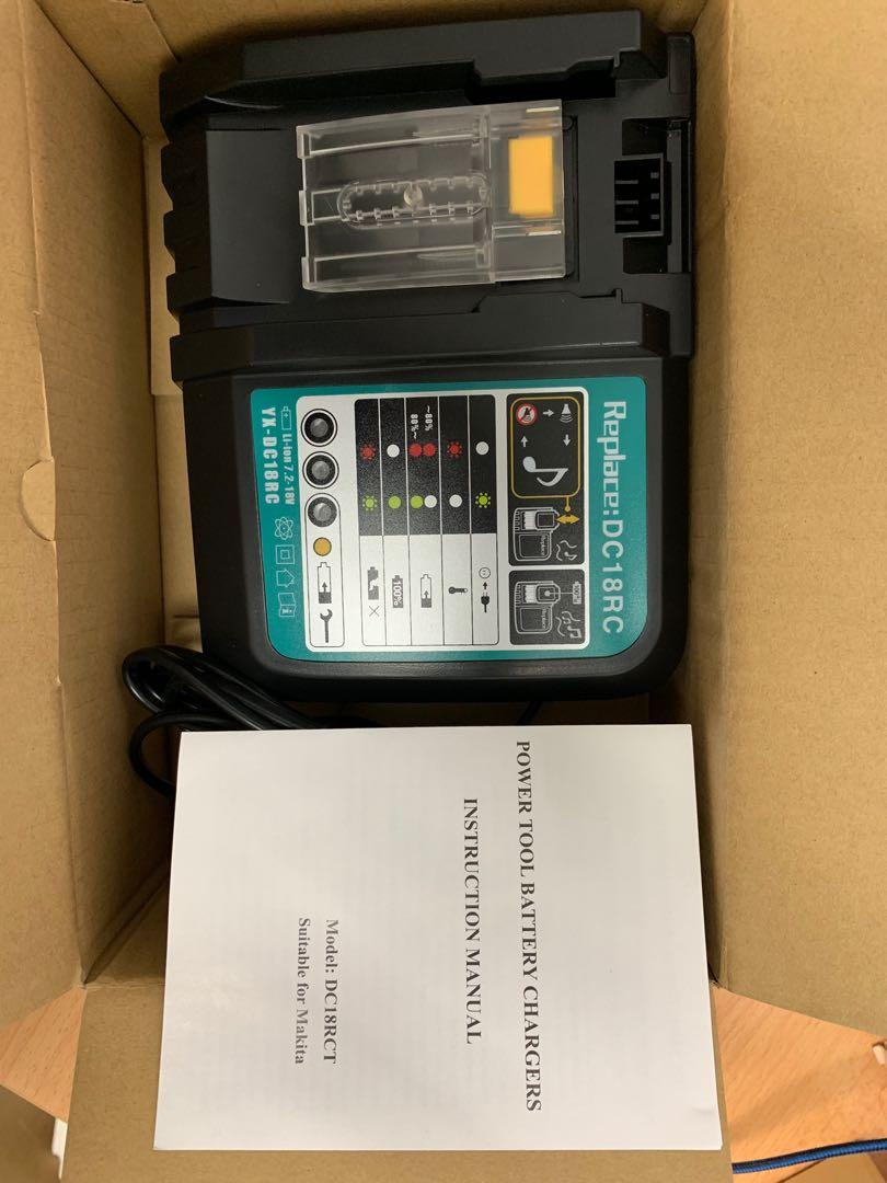 E0554 Li Ion Battery Charger For Makita Dc18rct Charging Station Electronics Others On Carousell