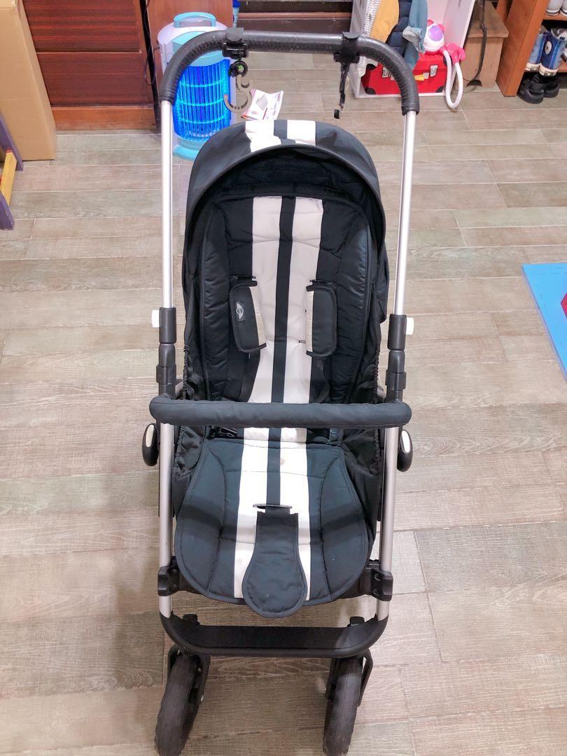 Easywalker MINI COOPER 條紋黑 嬰兒推車