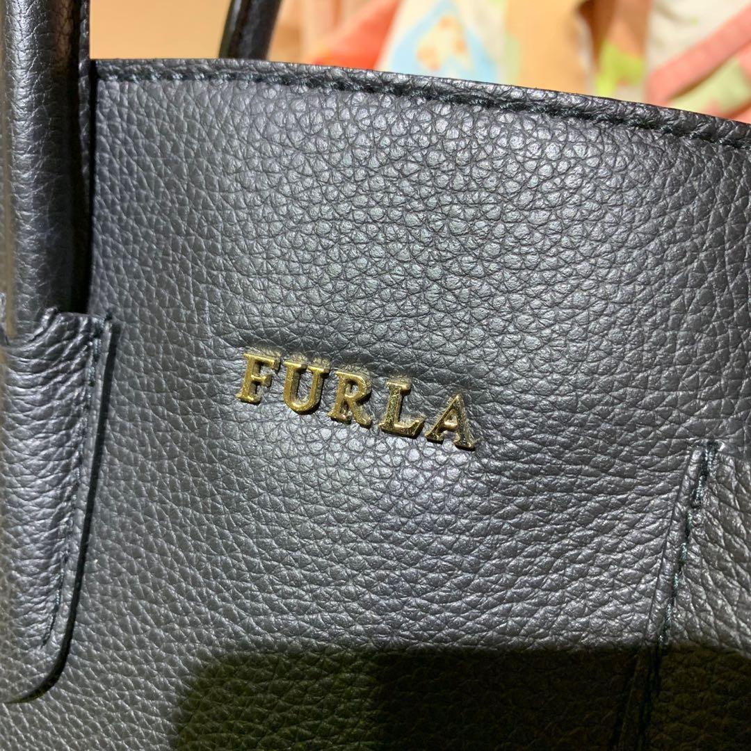 二手FURLA PIN tote bag 多用方包 黑 香港購入