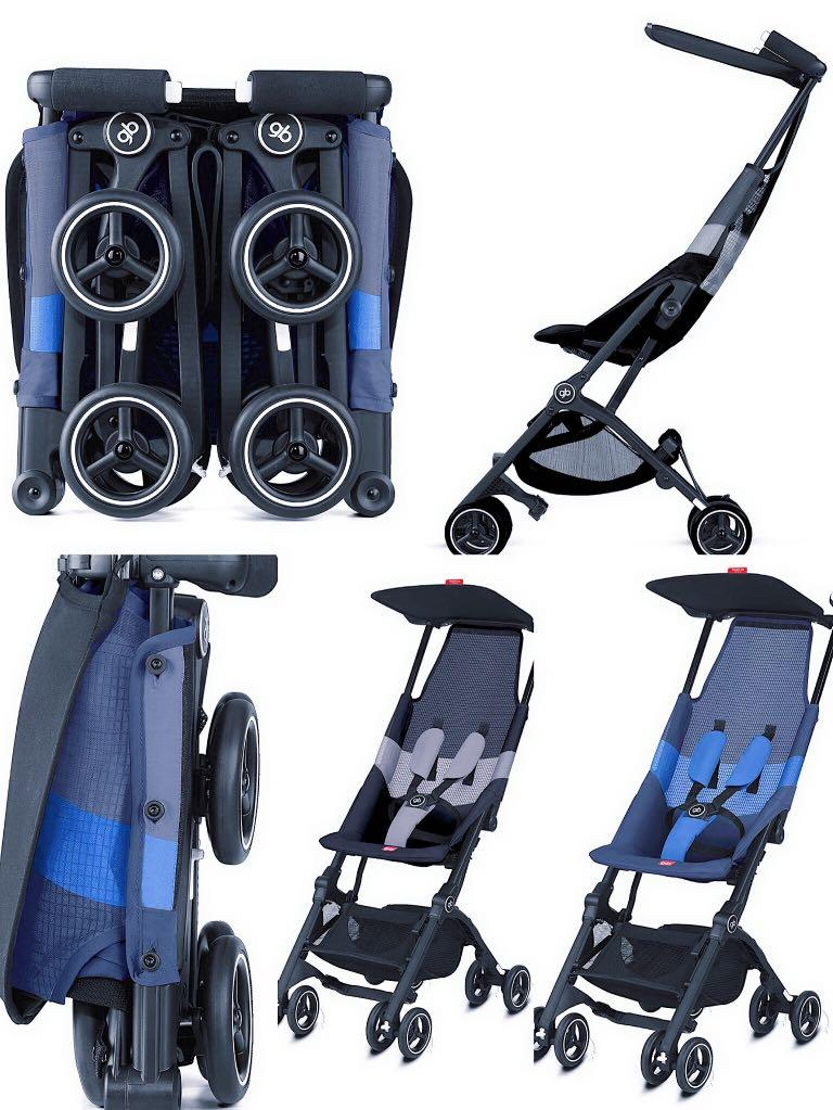 gb Baby Pockit Stroller Black Lightweight and Breathable Can Take on Plane