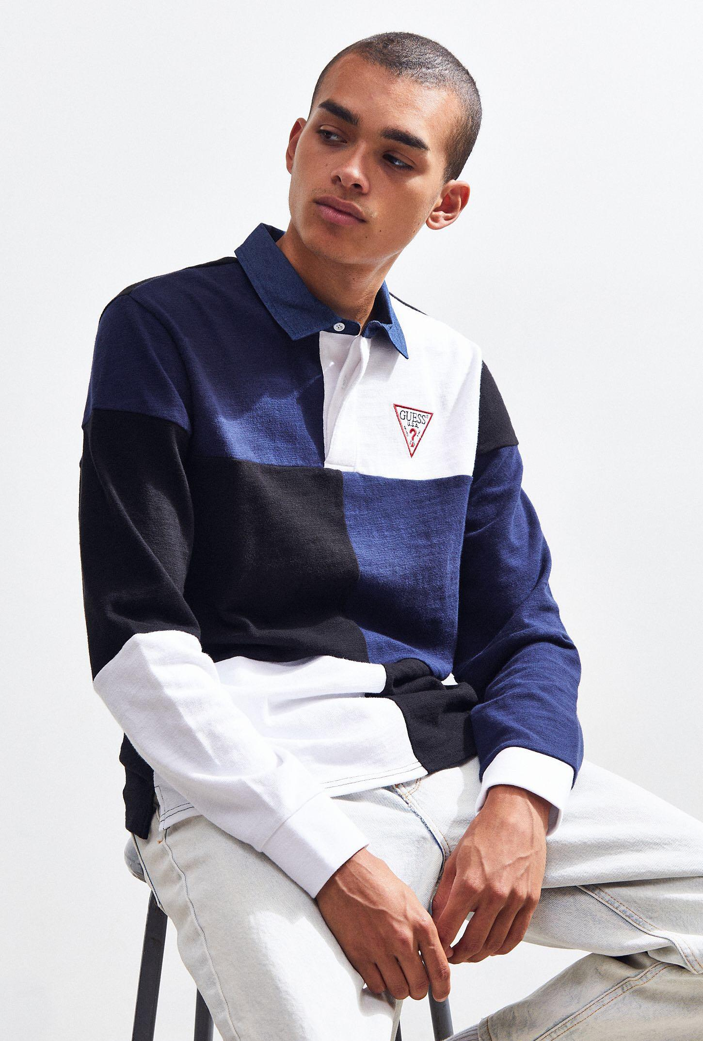 GUESS COLORBLOCKED POLO