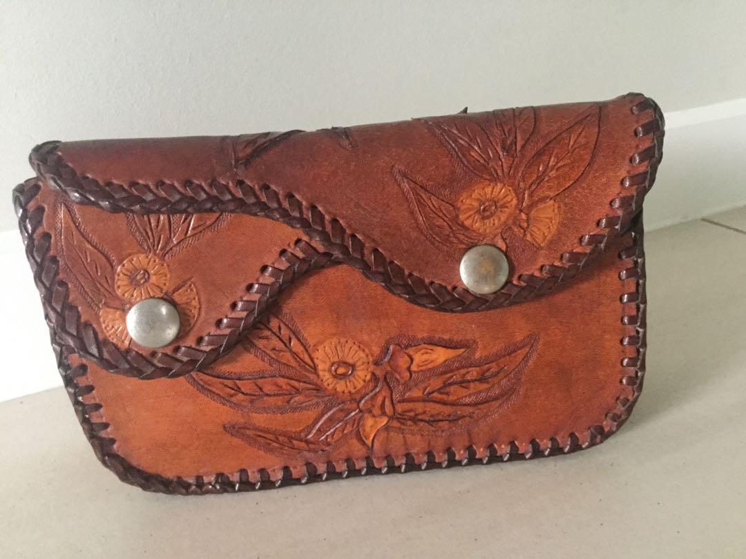 Handcrafted leather purse