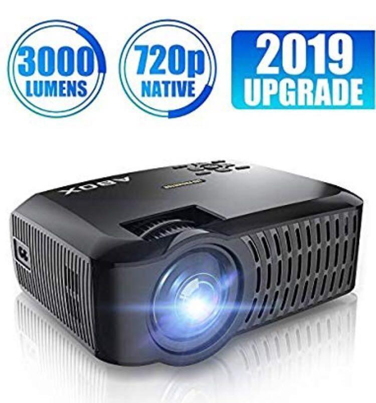 HD Projector, ABOX LED Mini Portable HDMI Projector, 1920 x 1080p Supported, HDMI/VGA/Micro SD/AV/USB, Laptop/TV Box/Phone/PS4 for Home Theater Entertainment (M2023)