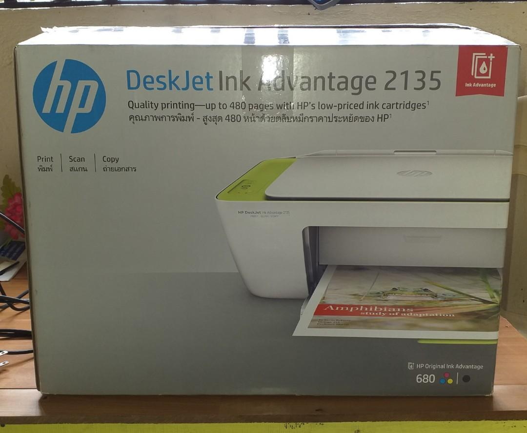 Hp Deskjet Ink Advantage 2135 All In One Printer Electronics Printers Scanners On Carousell