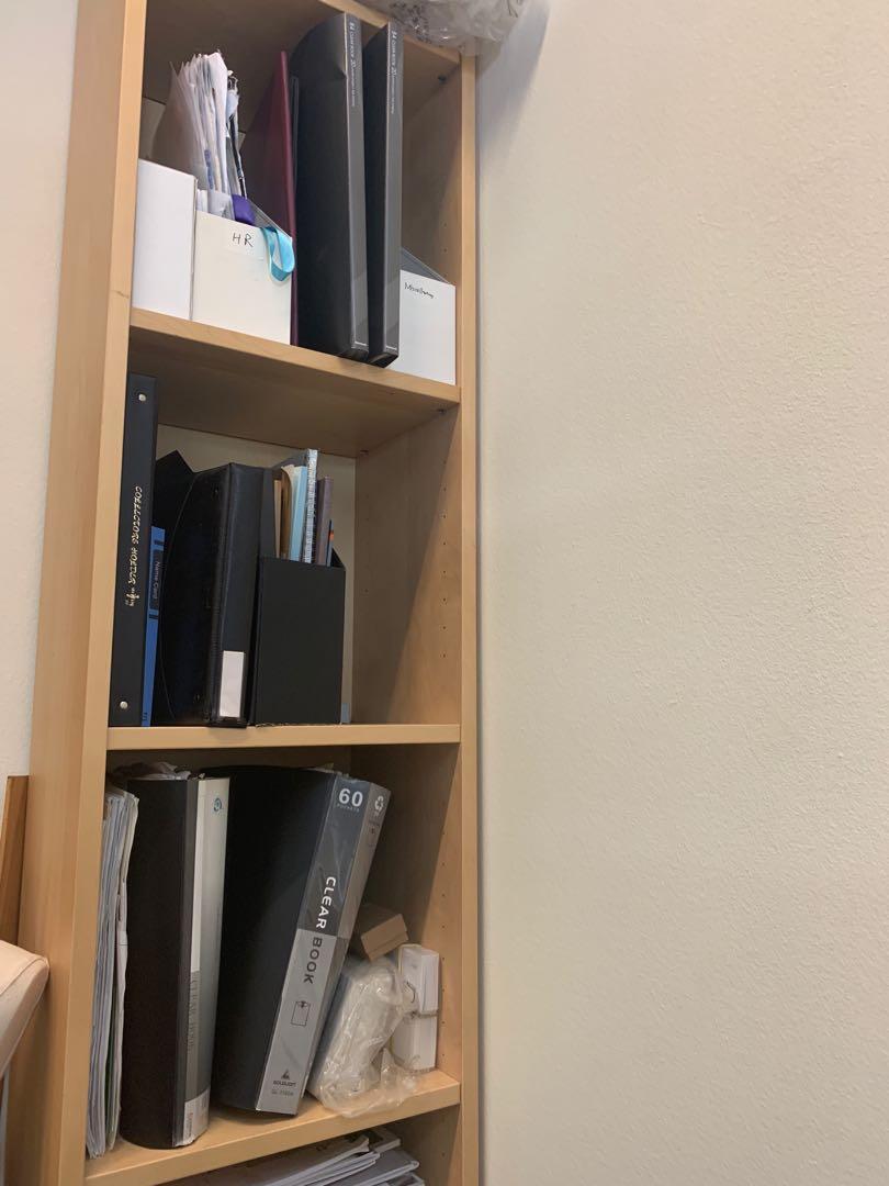 Ikea Billy Bookcase White Stained Oak Veneer Furniture