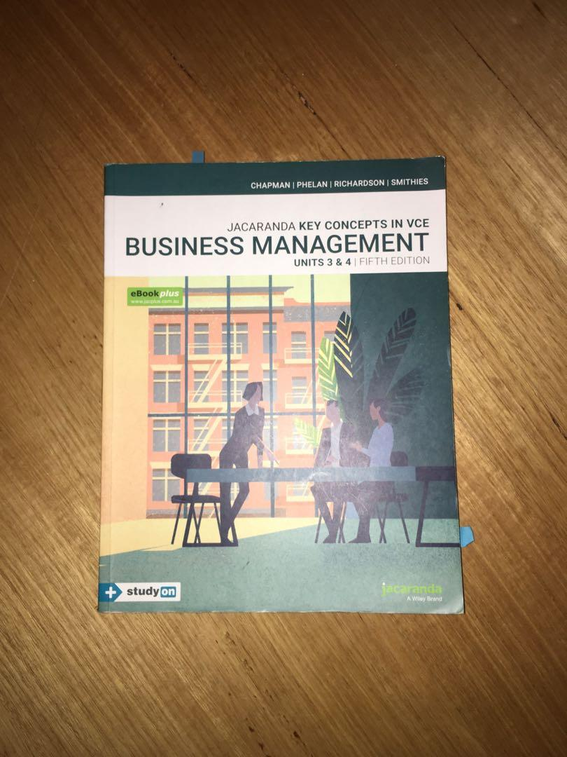 JACARANDA BUSINESS MANAGEMENT UNIT 3&4 FIFTH EDITION