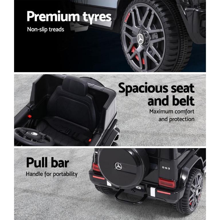 Mercedes-Benz Kids Ride On Car Electric AMG G63 Licensed Remote Cars 12V Black