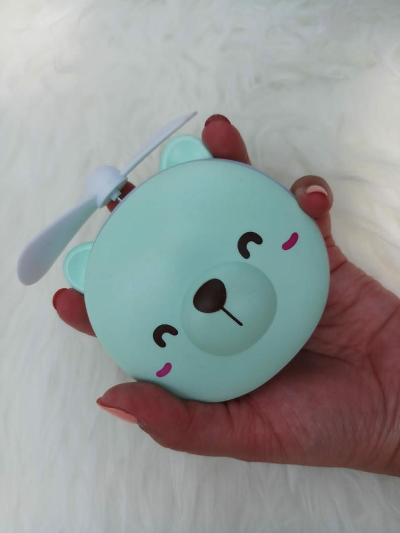 MINI FAN MIRROR LED TEDDY BEAR/KIPAS MIRROR LED