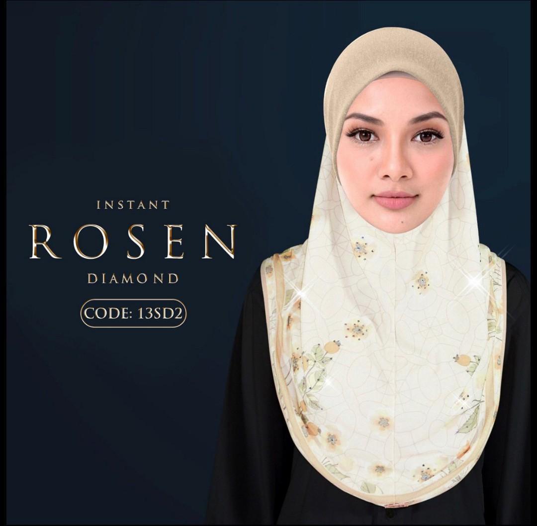 Naelofar Rosen Instant Scarf