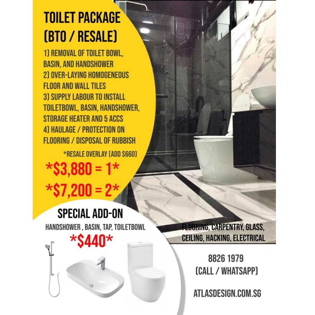 💥Kitchen/Bathroom Package (Includes Whole House Package)