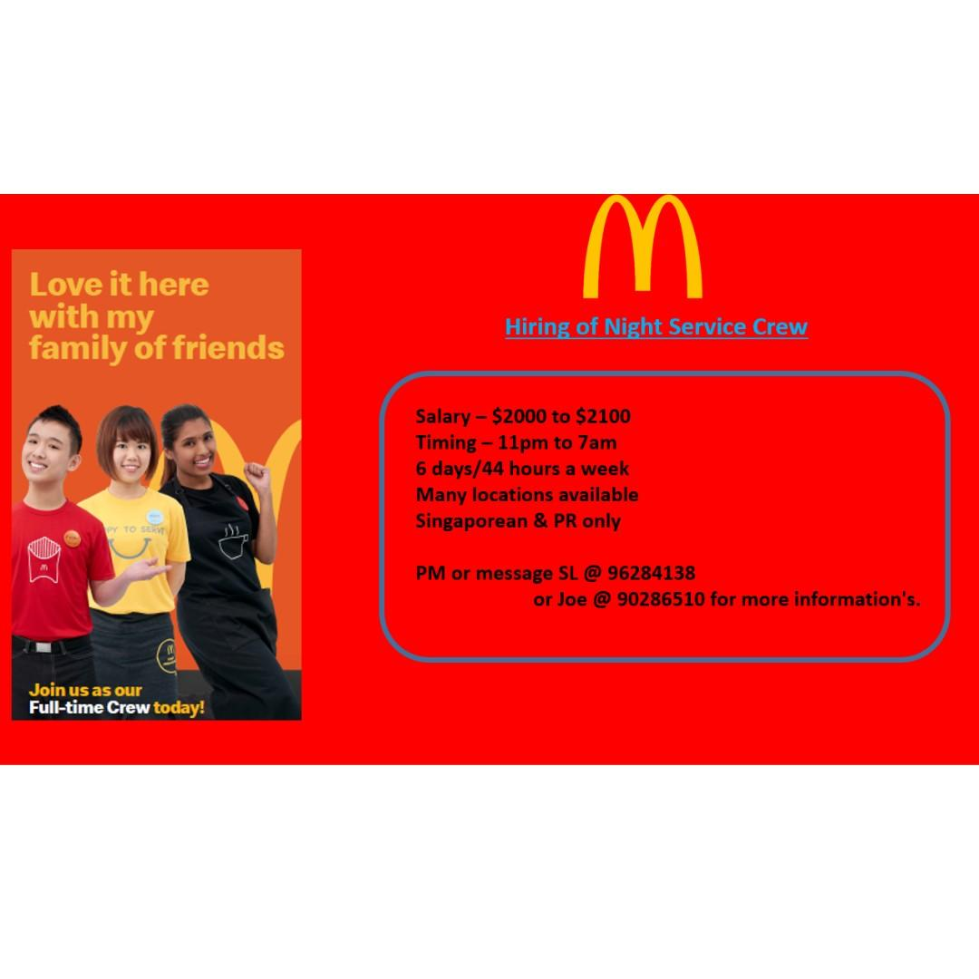 Night Service Crew, Delivery Rider & Management Trainee