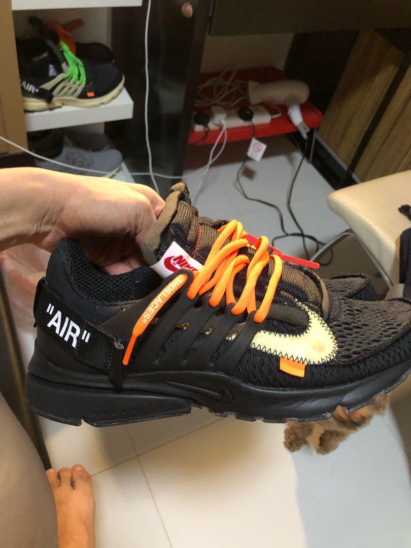Nike off white presto black us10, Men's