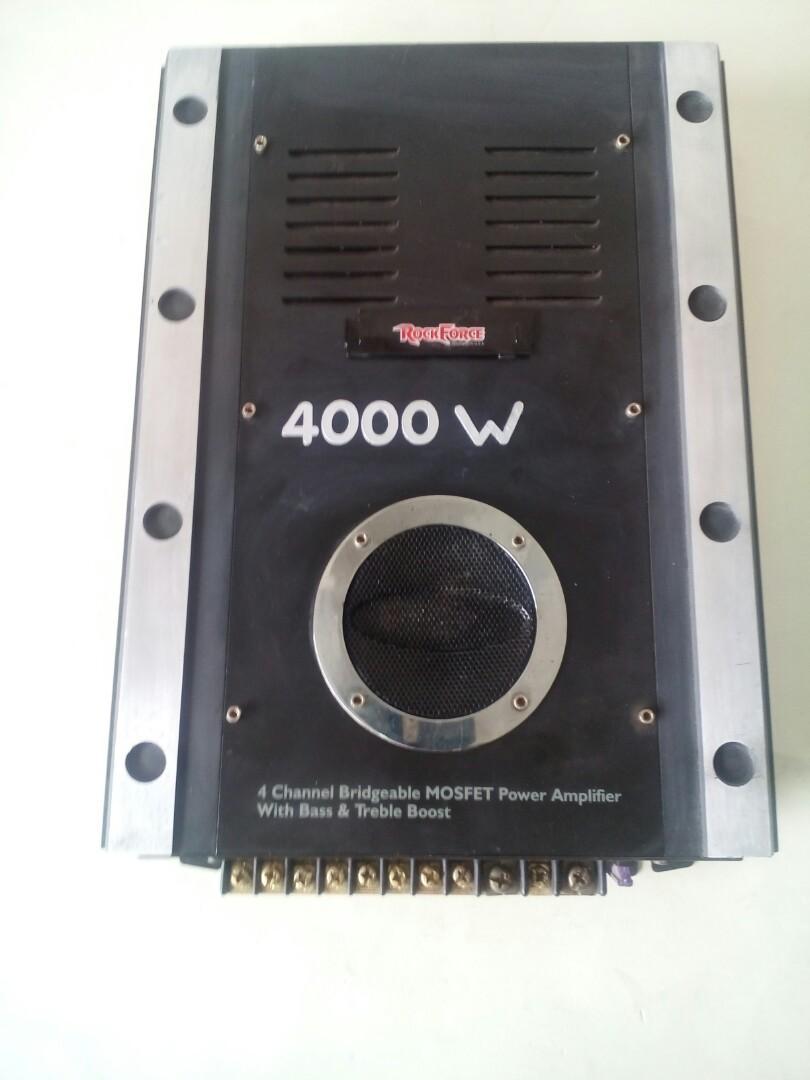 Rockforce USA 4channel amplifier 4000wats