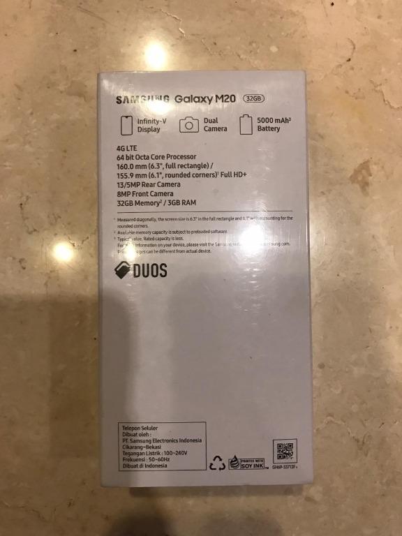 Samsung Galaxy M20 3/32GB RAM 3GB ROM 32GB GARANSI RESMI