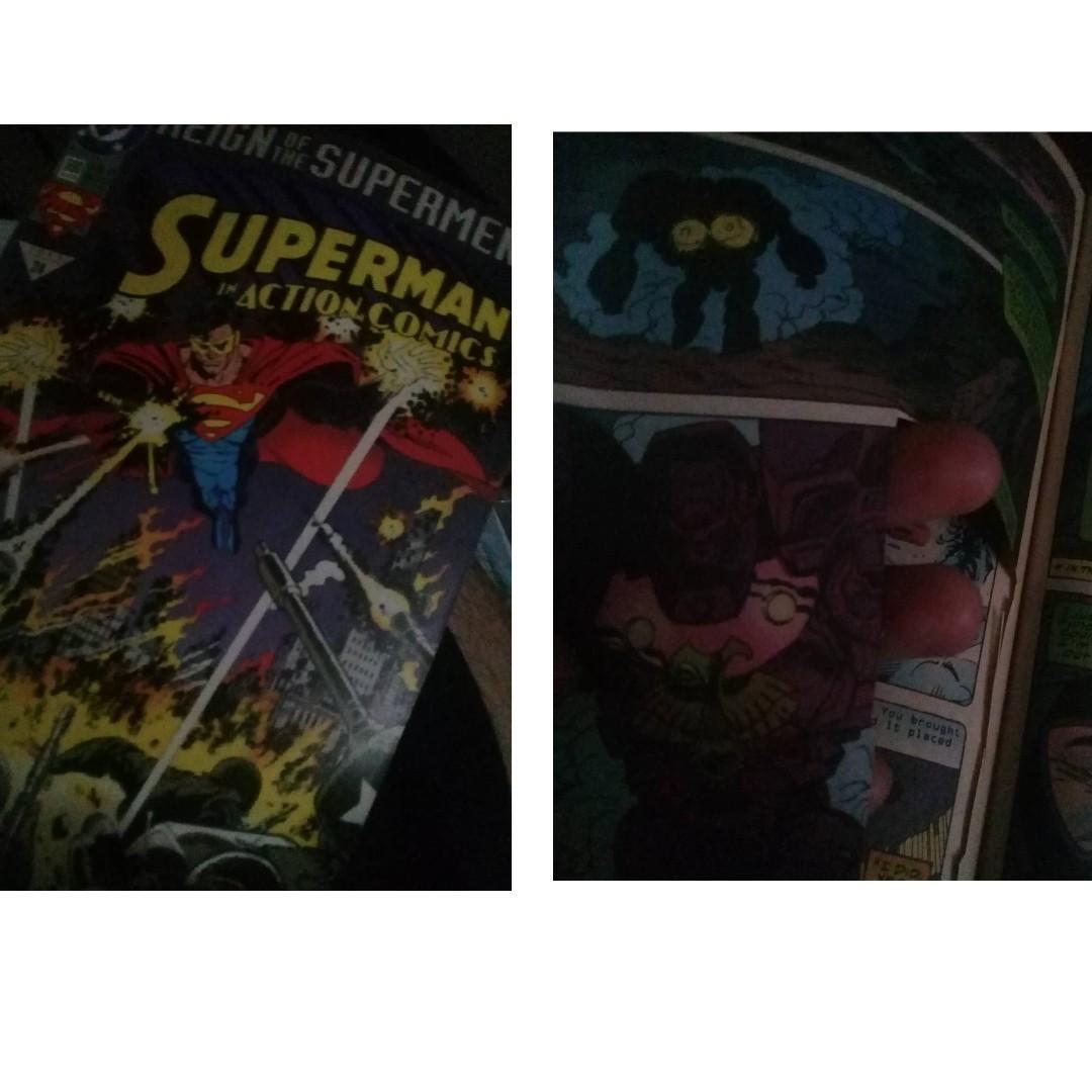 (SET) 6pcs 4 Reign of Supermen / Superman Comics Set with Free Wild Cats and Mars Attacks