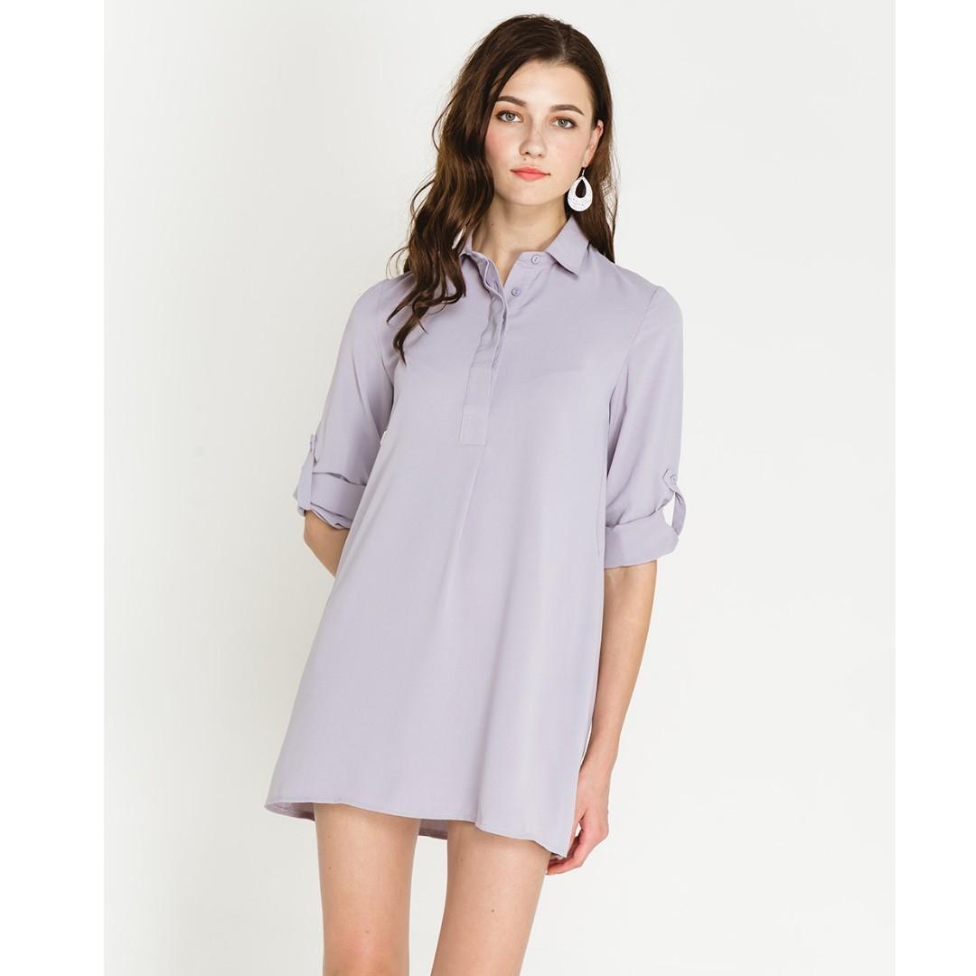shopsassydream ssd ondine shirtdress in grey