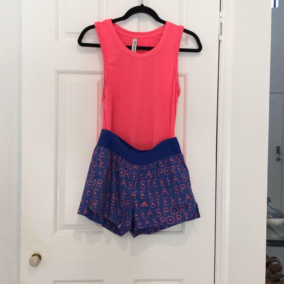 Shorts Top Size xs Blue Orange Stella McCartney for Adidas  Lorna Jane