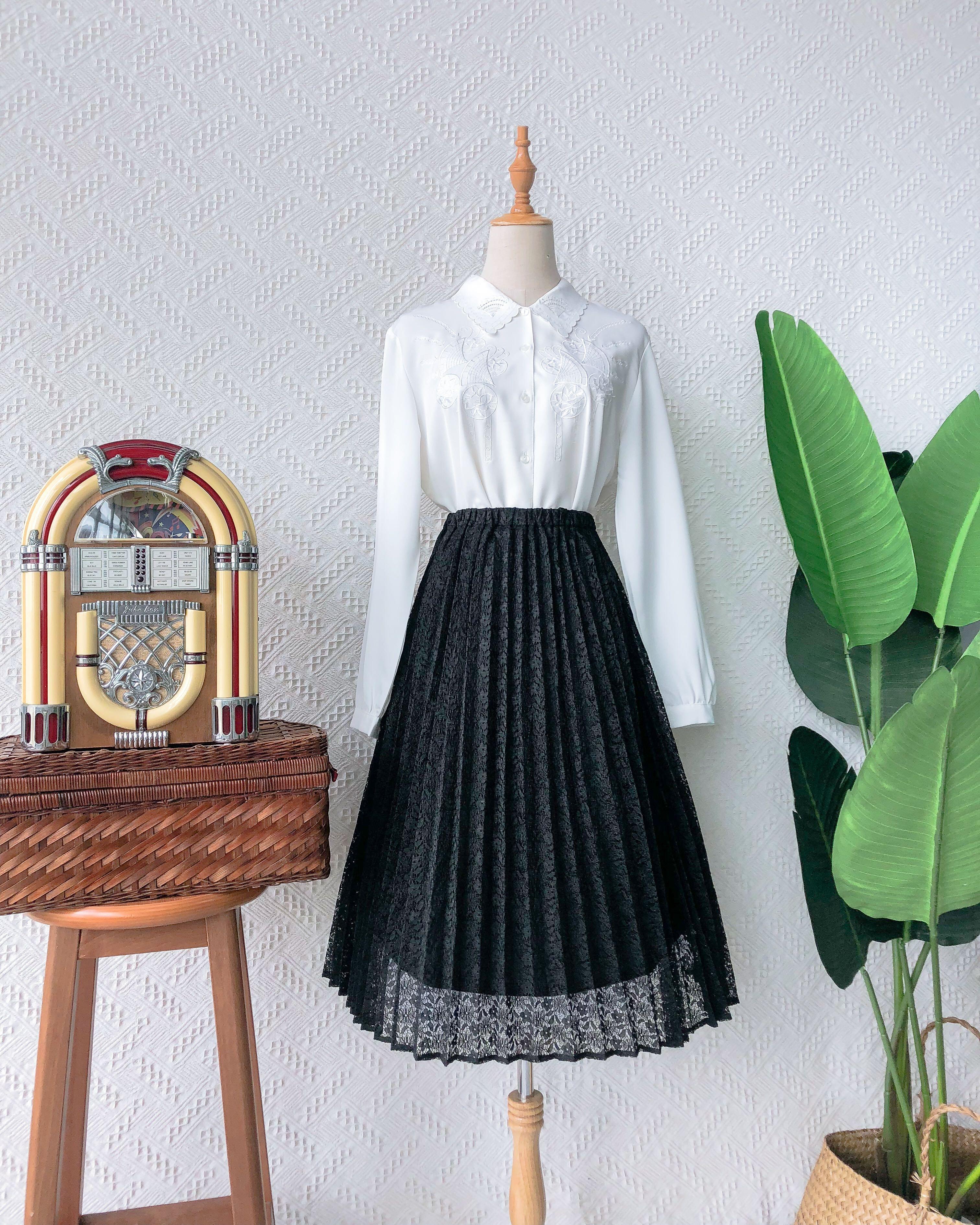 Size 20 🍿 Vintage Midi Skirt VS2037
