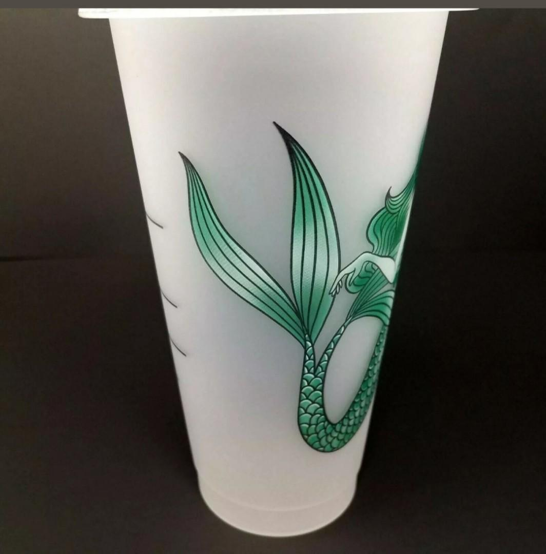 Starbucks Mermaid Reusable Frosted Cold Cup Venti 24 oz
