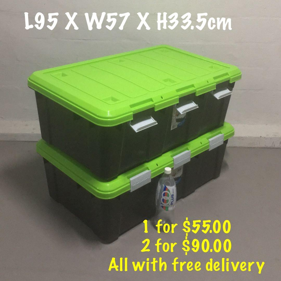 Toyogo Rugged Box with 3 Clips (removable cover)