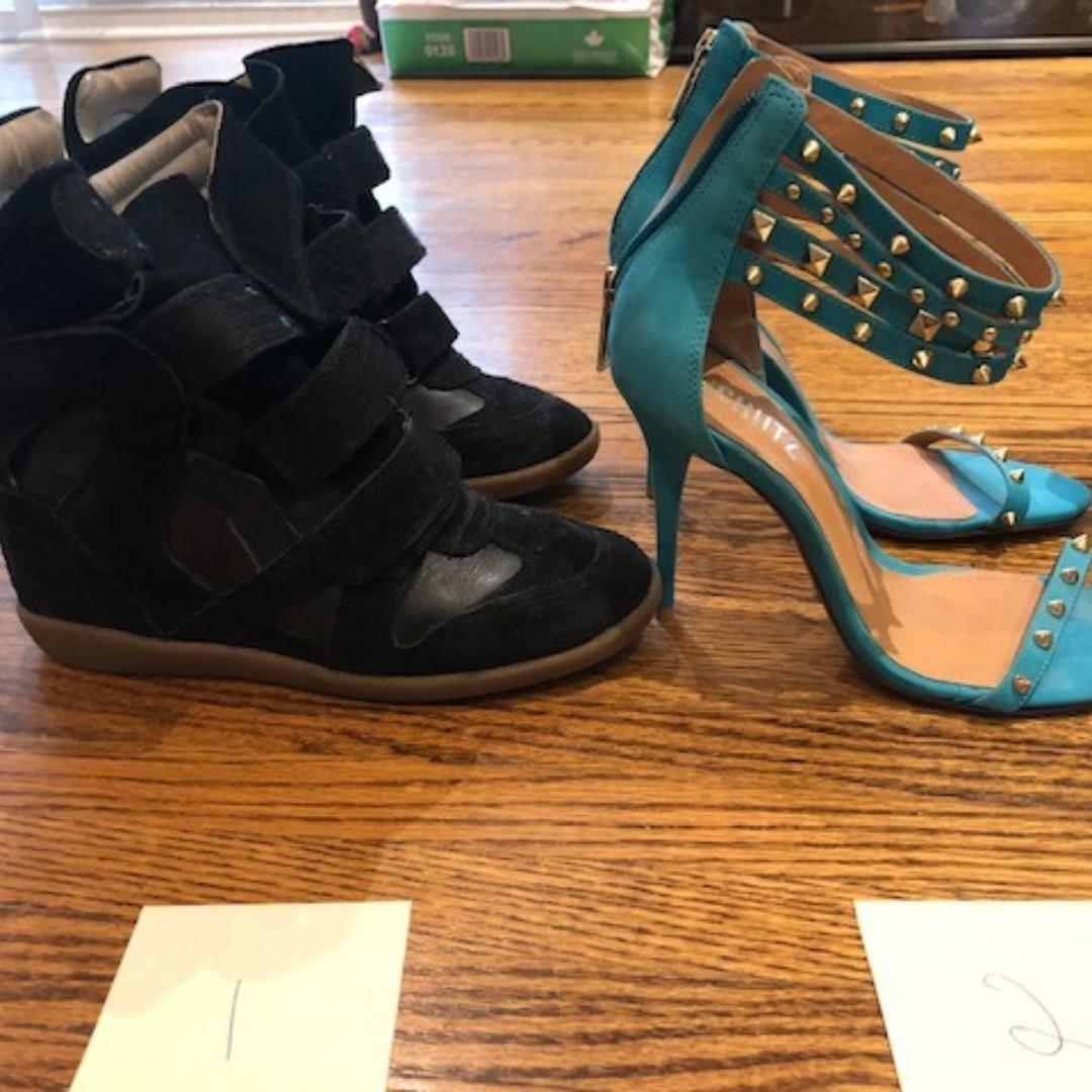 Various Unworn, gently used designer women's shoes - sz 37-38