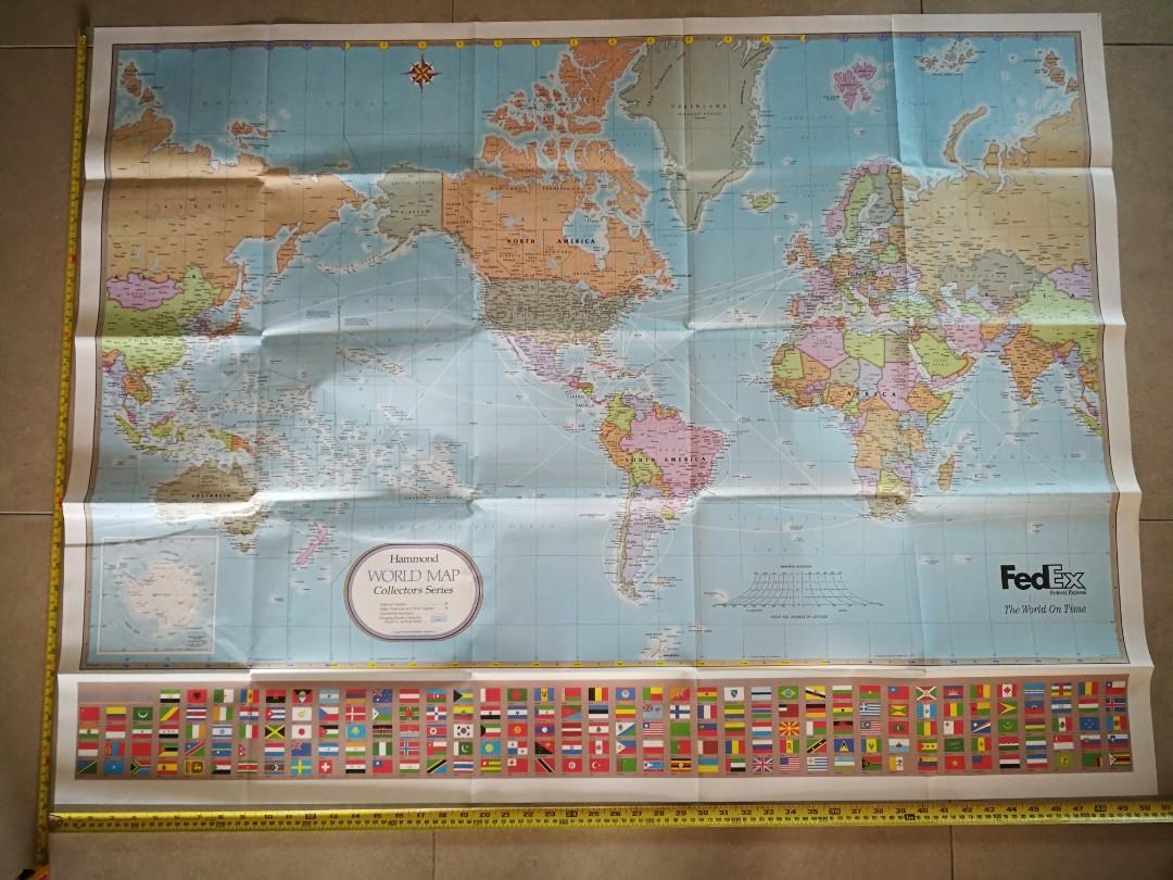 World Map + Frame.