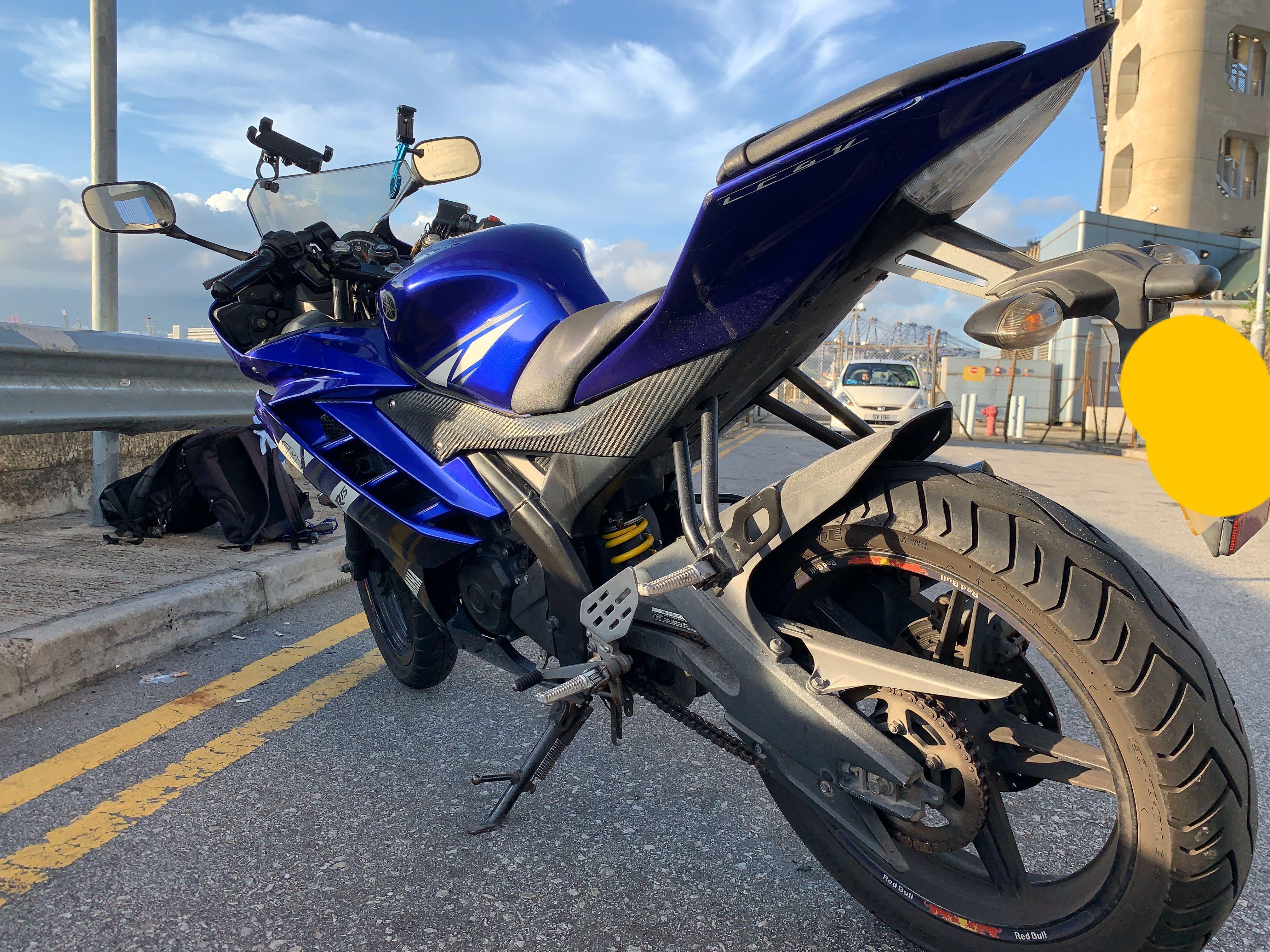 Yamaha R15 V2, 2012, Slip on exhaust (akrapovic), Good Condition