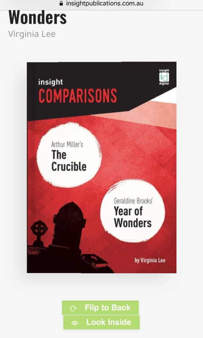 YEAR OF WONDERS & THE CRUCIBLE
