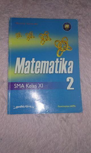Buku MATEMATIKA YUDHISTIRA ORI FULL COLOUR KELAS 11
