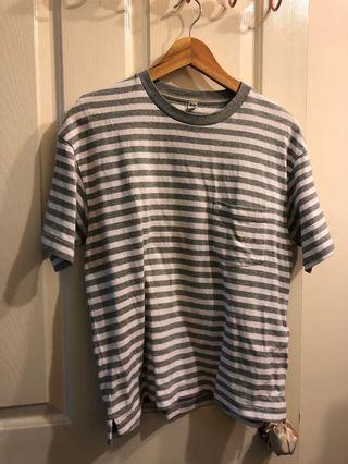 [二手]灰白條紋短袖