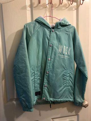 [二手]WOODSTUCK湖水綠防風刷毛外套