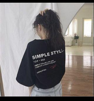 韓系黑色T-shirt