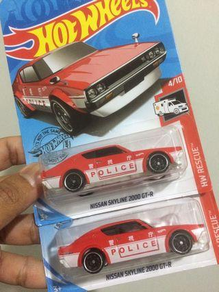 Hot Wheels Nissan Skyline 2000 GT-R Red