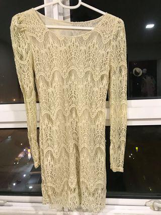 Lace long top/ short dress